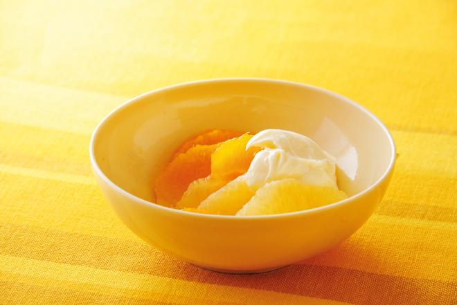 5分でできる!?簡単デザート!柑橘のマリネヨーグルトチーズクリーム