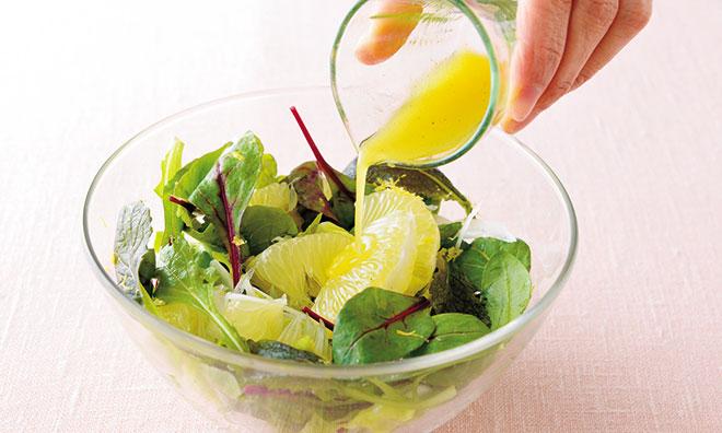 旬を味わおう!土佐文旦の春野菜のサラダ