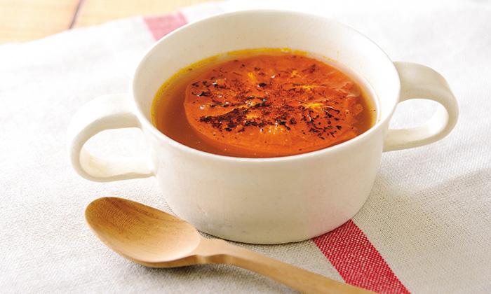 トマトのうまみたっぷり!ベイクドトマトスープ