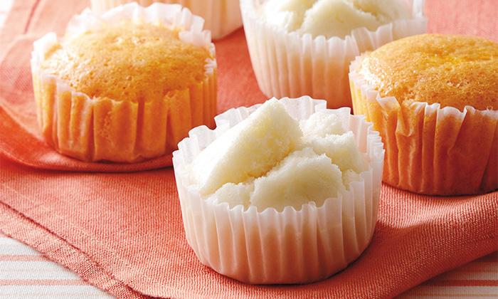 もちもちした食感とやさしい味わい。米粉の蒸しパン