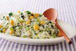 お鍋で簡単!小松菜とひよこ豆のピラフ