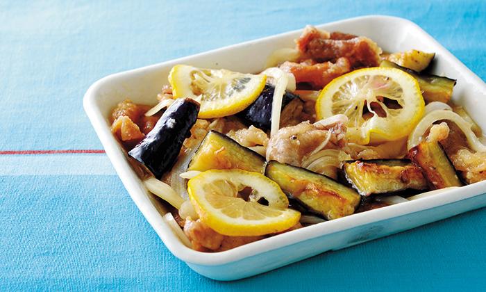 レモンでつくる南蛮酢!揚げなすと揚げ豚のレモン南蛮漬け