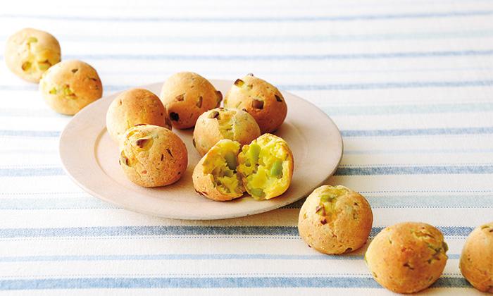ブラジルのパンをおやつにアレンジ!枝豆のポンデケージョ
