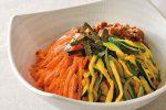 フライパンひとつで作れる!にんじんとズッキーニのナムルの常備菜