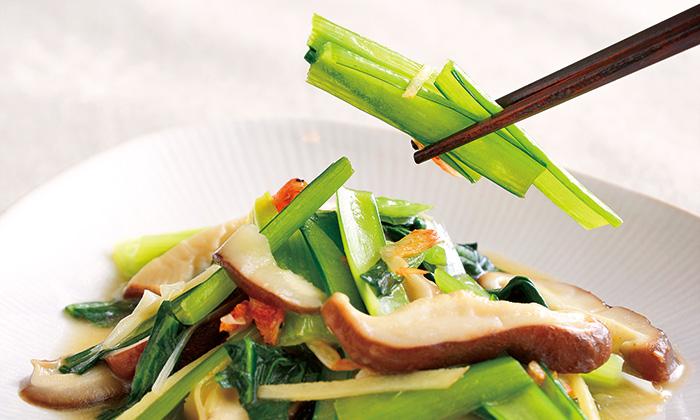 あと1品ほしい時におすすめ!小松菜としいたけのあっさり炒め
