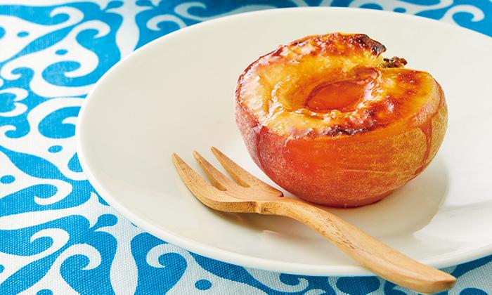 桃の意外だけどおいしい食べ方。焼き桃