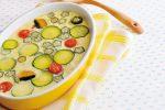 牛乳たっぷりの洋風茶碗蒸し「夏野菜のフラン」に野菜ブイヨンでひと工夫♪
