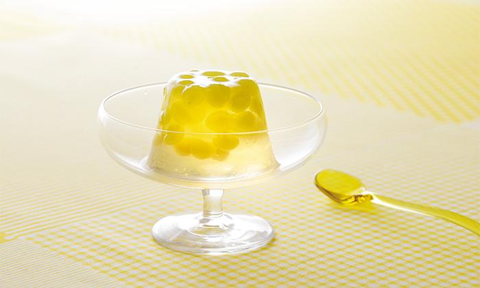 ぶどうジュースや白ワインで作る「デラウェアのゼリー」のレシピ