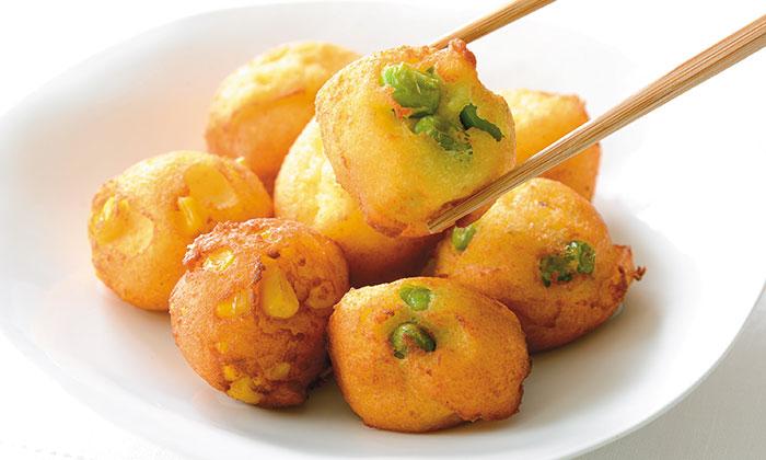 枝豆ととうもろこしのはんぺんのふんわり揚げレシピ