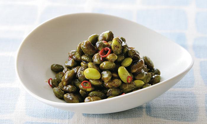 冷蔵庫で保存できる時短料理「茶豆の妙めナムル」はおつまみにもオススメ