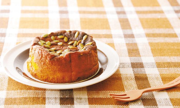 かぼちゃをそのまま使う「かぼちゃのケーキ」のレシピ