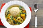 【一皿・時短】お肉を使わない。ヘルシーに秋野菜を食べる簡単カレー