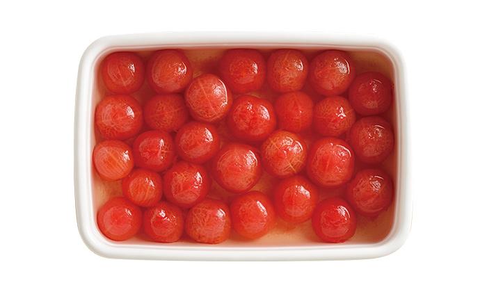トマトの常備菜に!大さじ1の料理酒で驚きの旨さ「ミニトマトのマリネ」