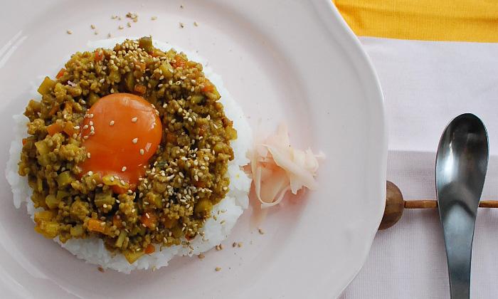 【一皿・時短】ひき肉と秋の和野菜キーマカレーの簡単レシピ