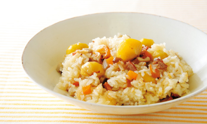 炊飯器で作る「栗入り炊き込み中華おこわ」レシピ