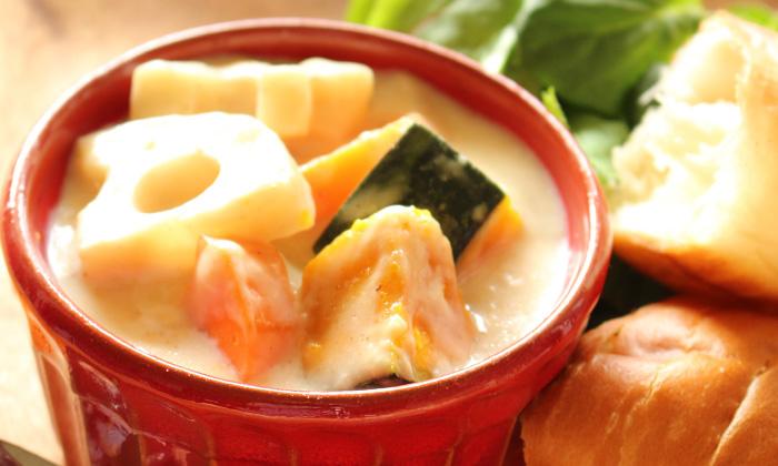 【一皿・時短】米粉で簡単!ごろごろ野菜のクリームシチュー