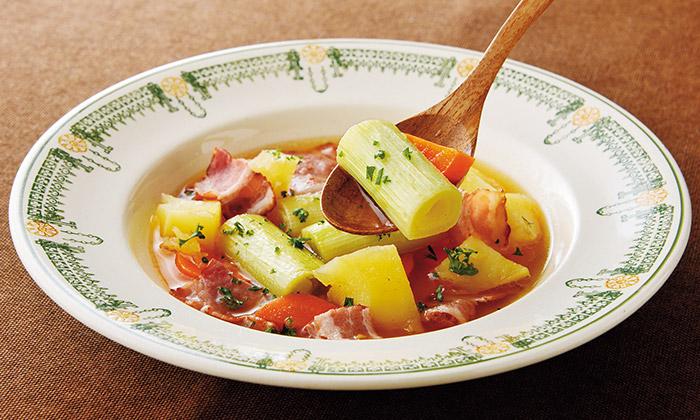 旬の下仁田ねぎを使ったスープ煮のレシピ