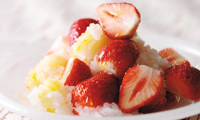 「旬のいちごと辛味大根のサラダ」のレシピ