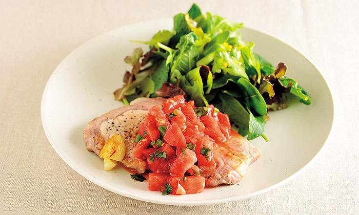 豚肉のソテーフレッシュトマトソースのレシピ(作り方)