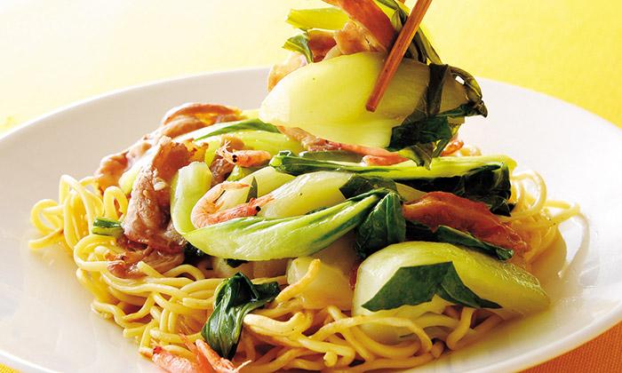 チンゲン菜のナンプラー風味焼きそばのレシピ(作り方)