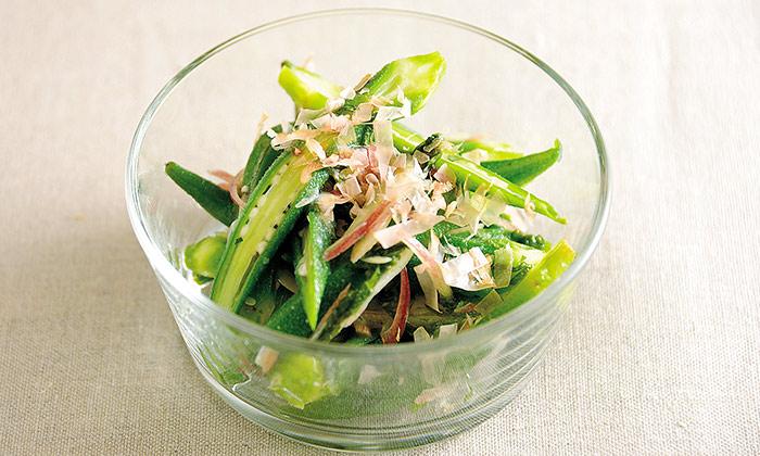 おくらと薬味野菜の塩麹和えのレシピ(作り方)