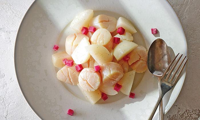「ほたてとかぶの白いサラダ 山椒の香り」のレシピ(作り方)