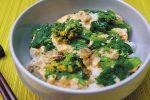 「菜花とあさりの卵丼」簡単レシピ