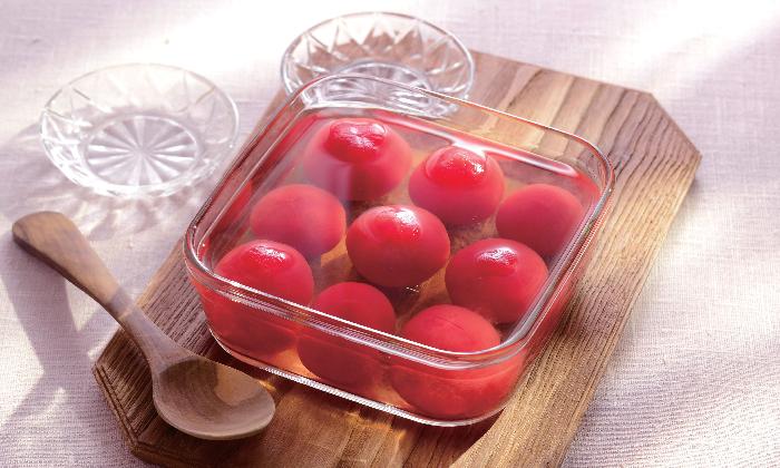 【季節の手しごと】トマトの出汁漬け