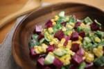 【とにかく簡単】見た目も鮮やか!「ビーツのカラフルチョップドサラダ」